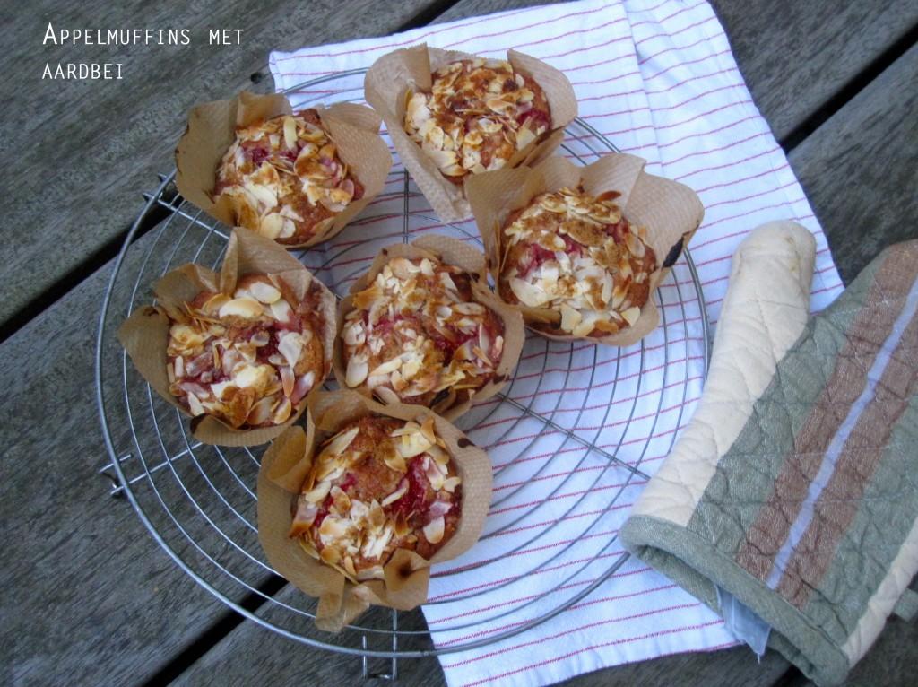 appelmuffins-met-aardbei