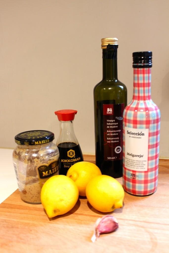Ingrediënten van de citroenmarinade