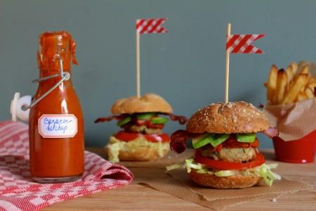 Mini-burgers met suikervrije ketchup