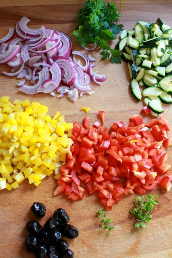 Ingrediënten Griekse rijstschotel