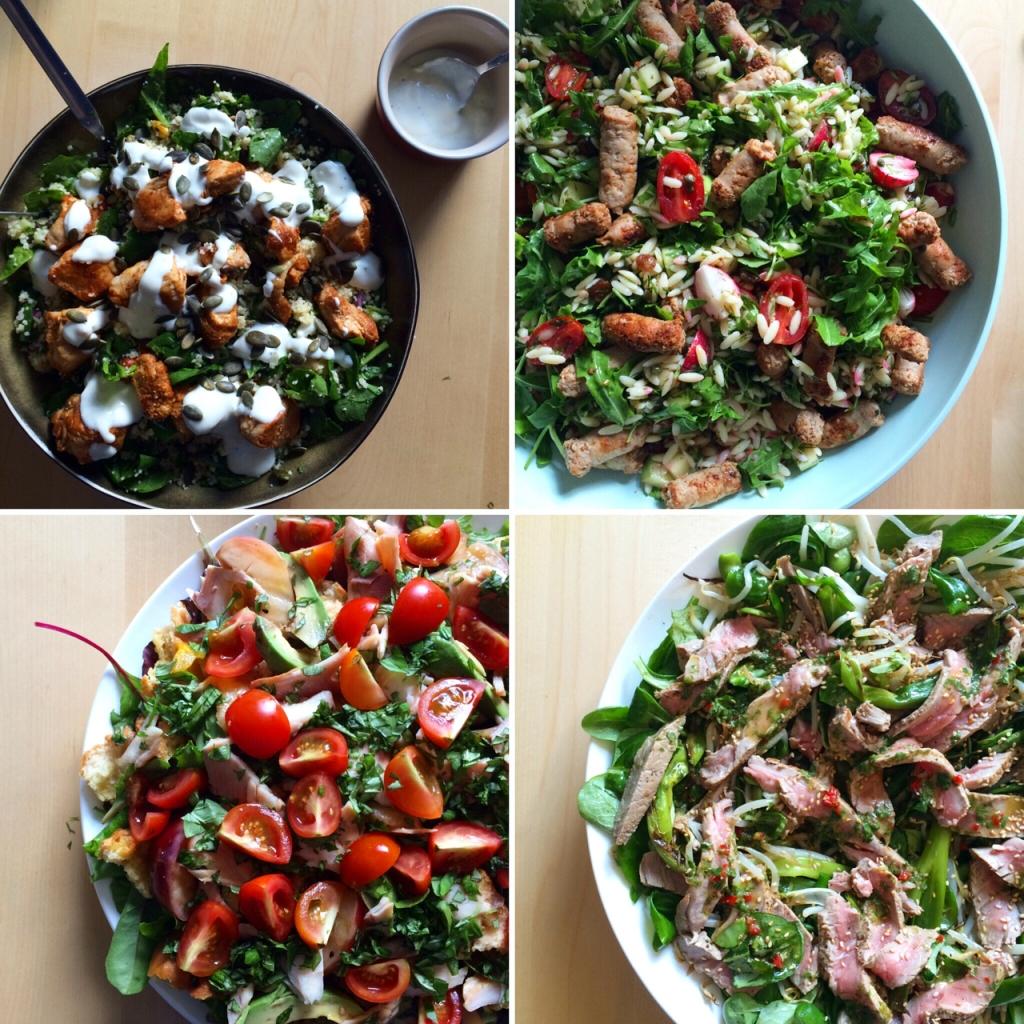 Salades uit Ilse Kookt - puur en met passie / www.eenlepeltjelekkers.be