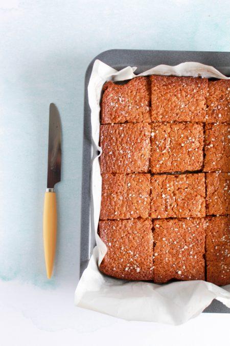 Brownie met gezouten karamel / www.eenlepeltjelekkers.be