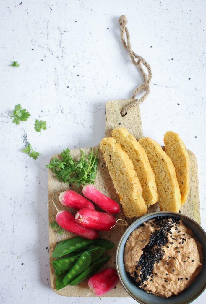 Drie gezonde hapjes voor de picknickmand - Linzenhummus / www.eenlepeltjelekkers.be
