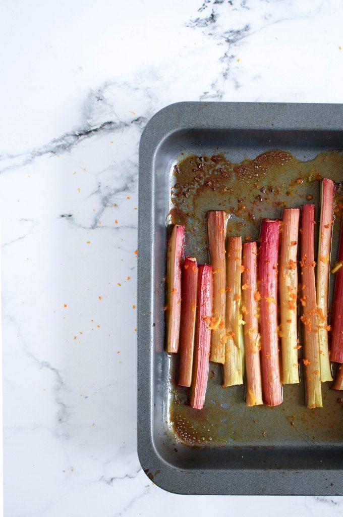 Rabarber geroosterd in de oven / www.eenlepeltjelekkers.be