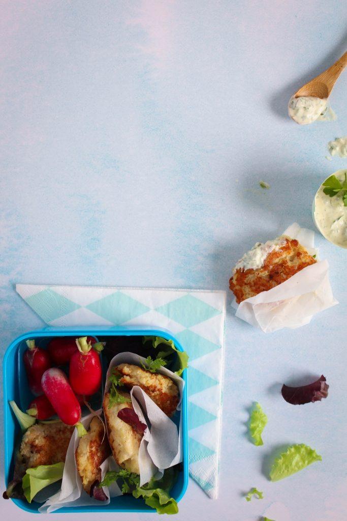 Drie gezonde hapjes voor de picknickmand - Visballetjes met remoulade / www.eenlepeltjelekkers.be