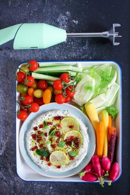 Opgeklopte feta met za'atar / www.eenlepeltjelekkers.be