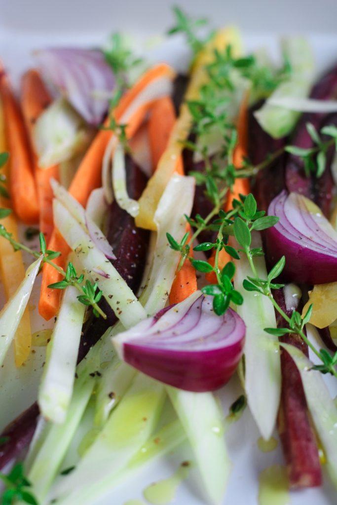 Groenten roosteren in de oven close-up / www.eenlepeltjelekkers.be