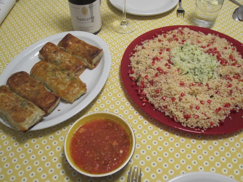 Krabpakketjes met couscous