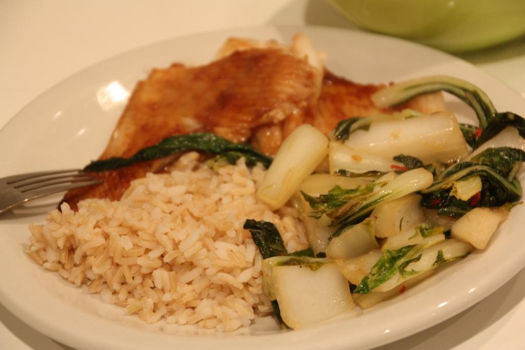 Aziatische vis met paksoi