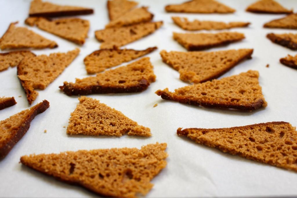 Driehoekjes van peperkoek