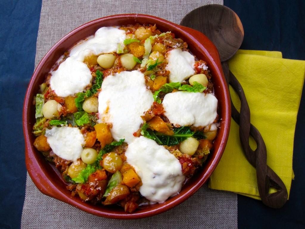 Gnocchi ovenschotel met savooi en gehakt