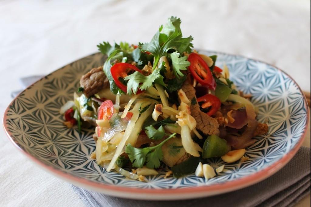 Aziatische wok met rundsvlees
