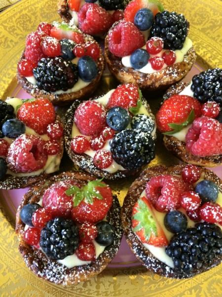 Eenvoudige fruittaartjes