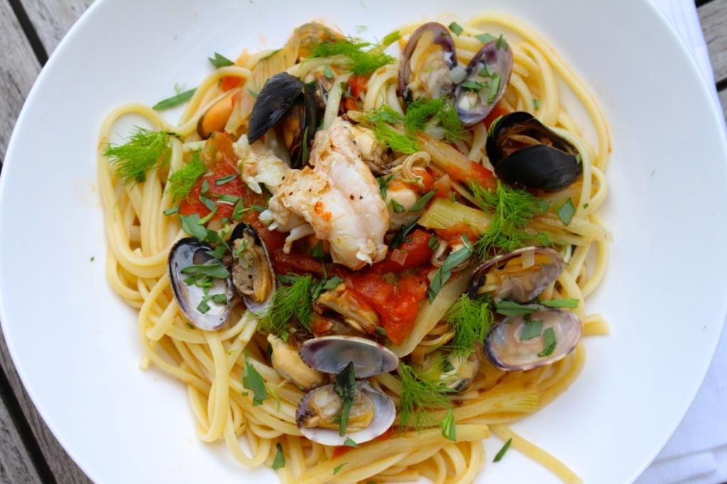 Luxueuze pasta met zeevruchten