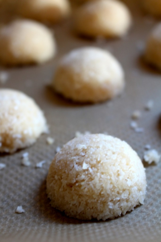 Kokosmakronen voor het bakken