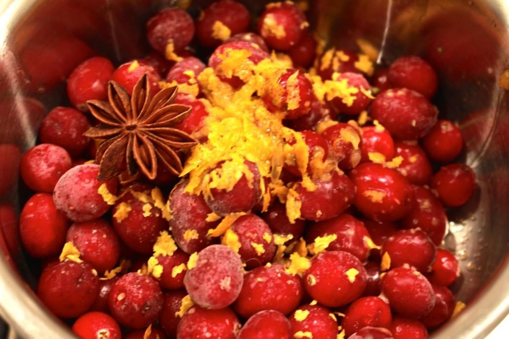 Cranberrysaus maken