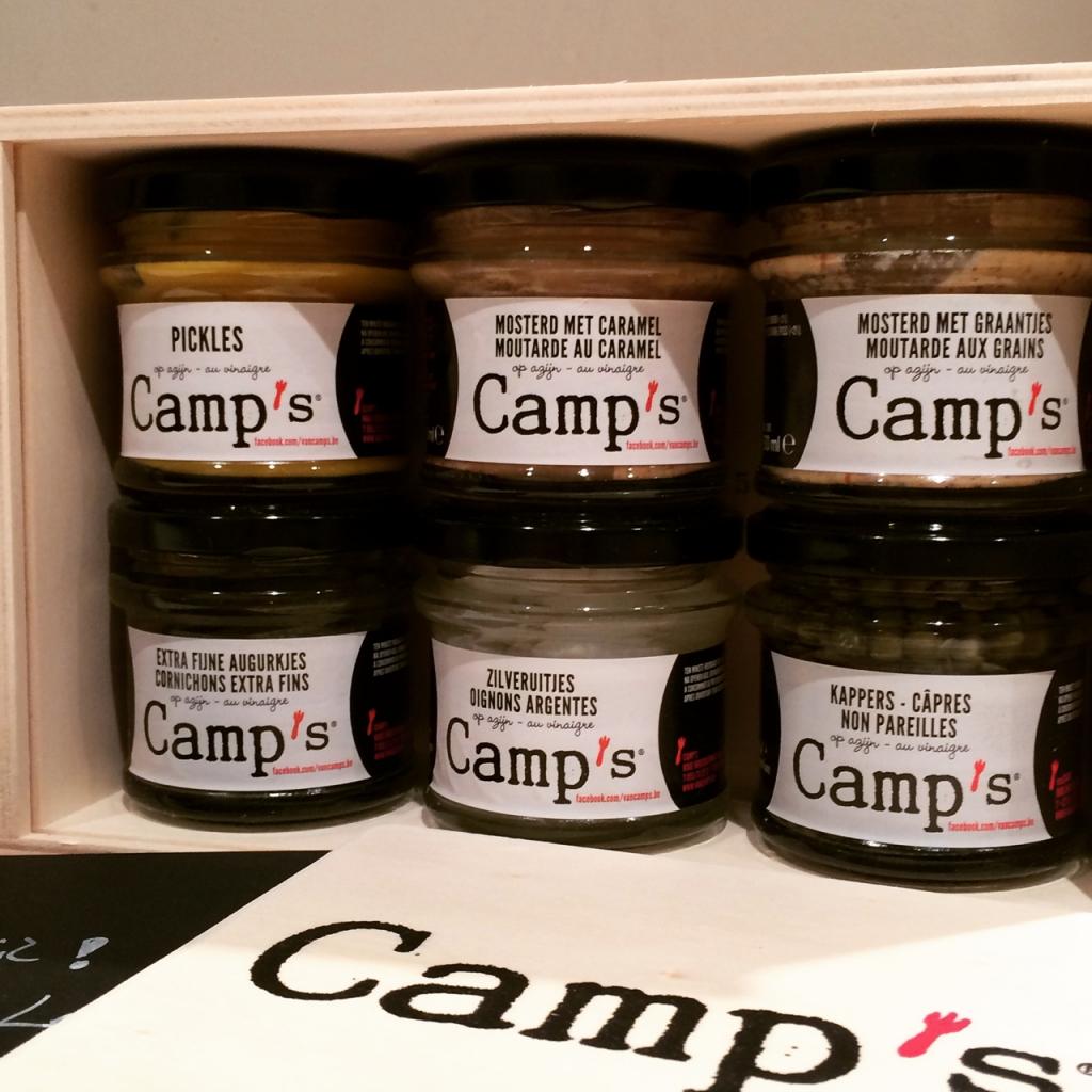 Camp's mosterd, pickles en ingelegde groenten