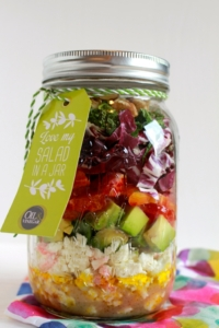 Salade van bloedsinaasappel, feta en radicchio