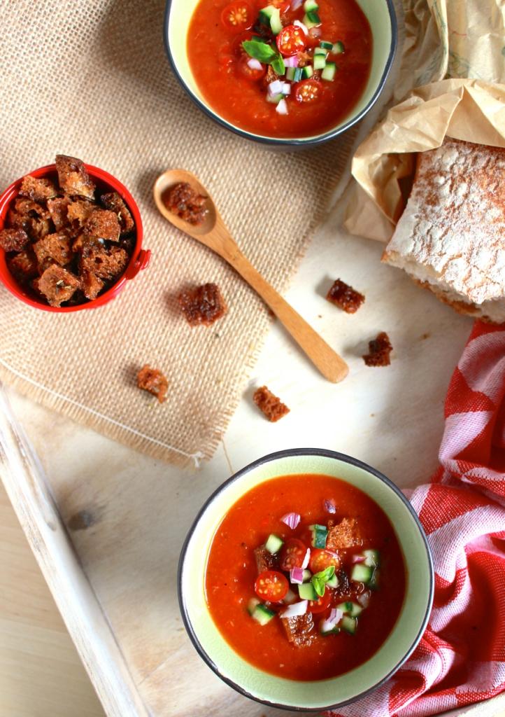 Gazpacho van geroosterde groenten