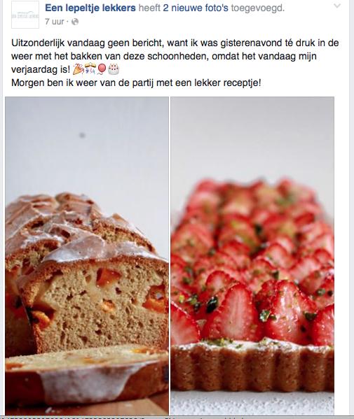 Aardbeientaart & abrikozencake