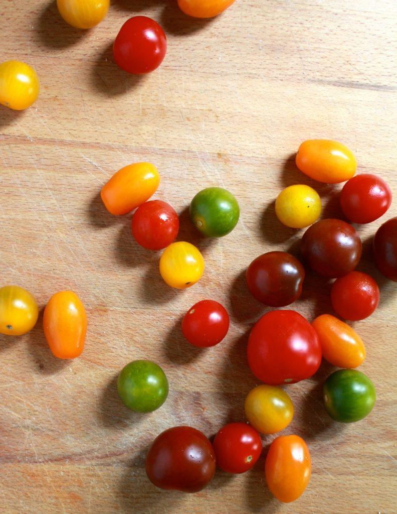 Kerstomaten in alle kleuren en maten / www.eenlepeltjelekkers.be