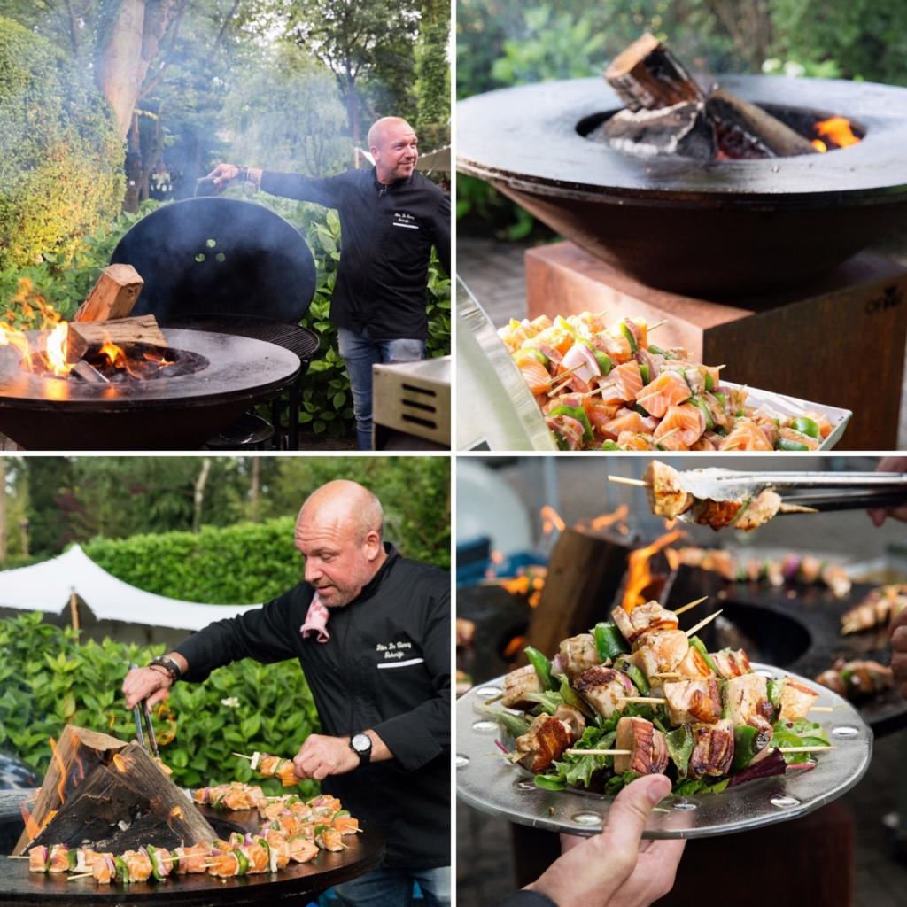 Carrefour barbecue - Peter De Clercq aan het werk