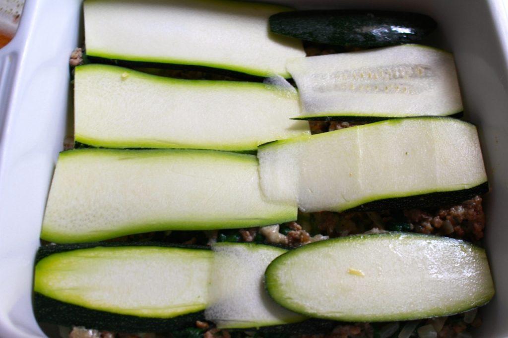 Laagjes courgette / www.eenlepeltjelekkers.be