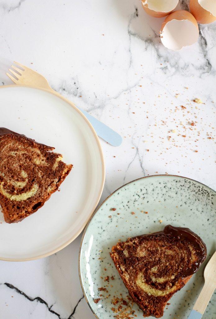 Tiramisu marmercake met chocoladeglazuur / www.eenlepeltjelekkers.be