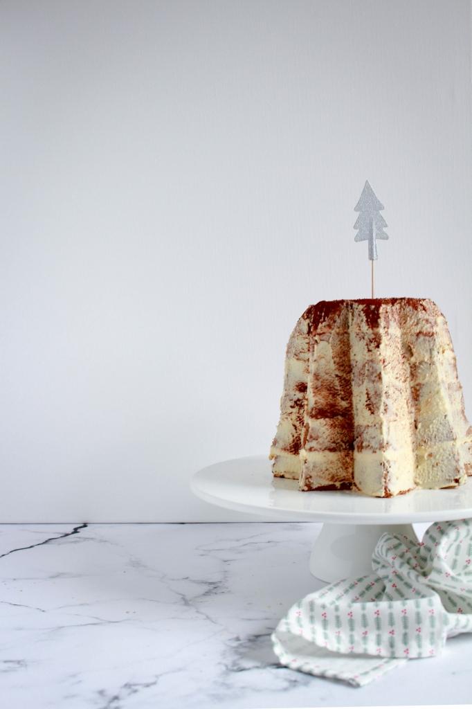 Capuccino kerstcake van pandoro