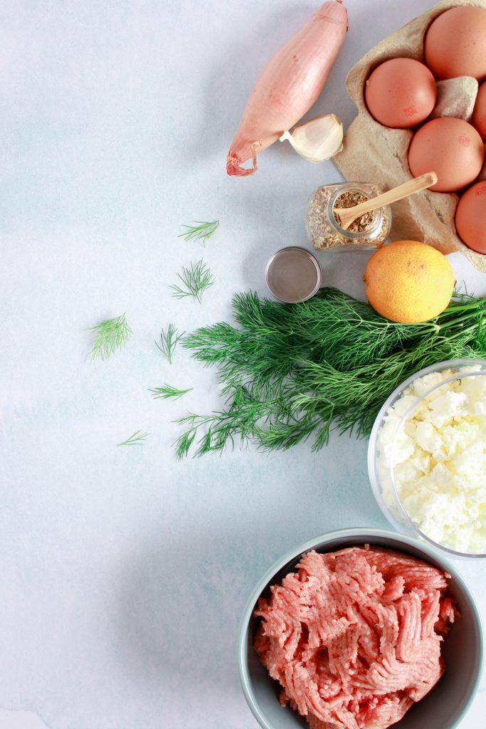 Ingrediënten Griekse gehaktballetjes met yoghurtdip / www.eenlepeltjelekkers.be