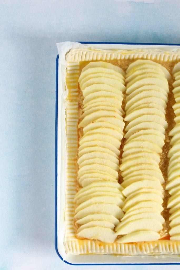 Appels op frangipane leggen / www.eenlepeltjelekkers.be