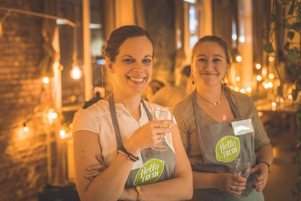 Annelies & Charlotte op de HelloFresh workshop / www.eenlepeltjelekkers.be