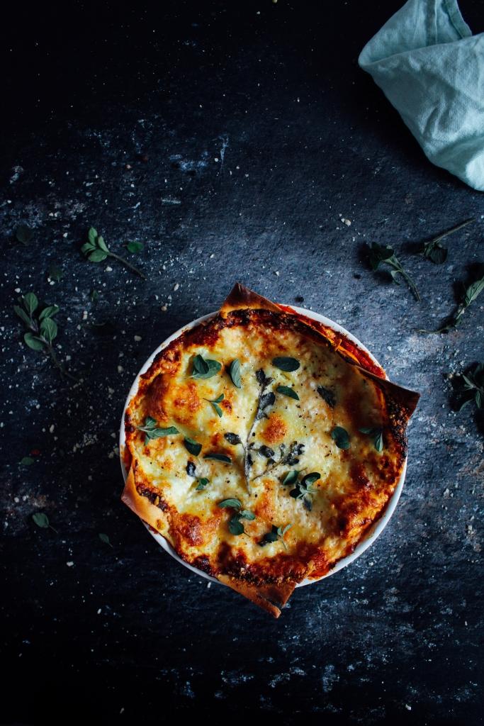 Snelle lasagne met chorizo en oregano