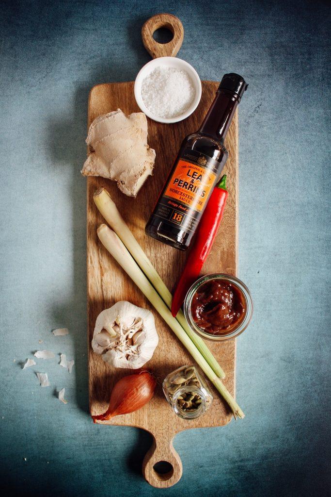 Gemarineerde kippenboutjes - ingrediënten / www.eenlepeltjelekkers.be