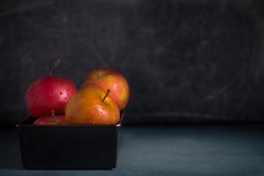 Belle de Boskoop appels in mand / www.eenlepeltjelekkers.be