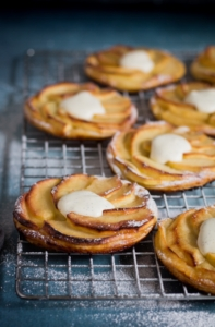 Normandische appeltaartjes close-up / www.eenlepeltjelekkers.be