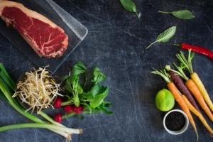 Ingrediënten Thaise biefstuksalade / www.eenlepeltjelekkers.be