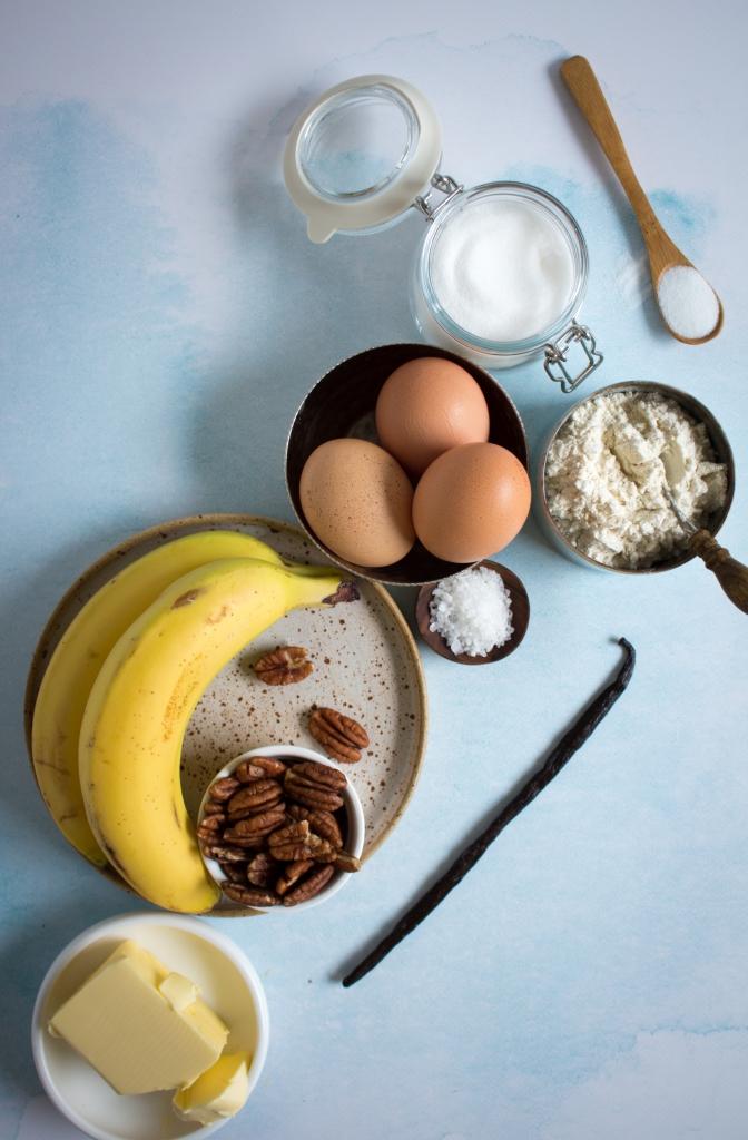 Bananendessert ingrediënten / www.eenlepeltjelekkers.be