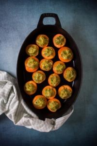 Abrikozen vullen met pistachecrumble / www.eenlepeltjelekkers.be
