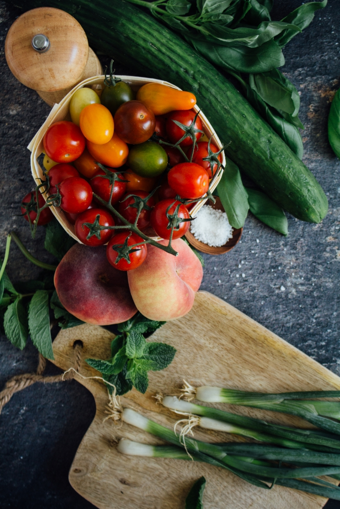 Zomersalade - ingrediënten / www.eenlepeltjelekkers.be