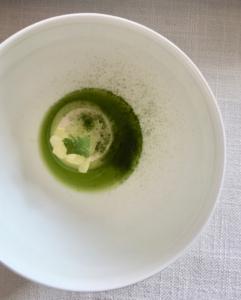Gerookte paling - groene kruiden bij De Vijf Seizoenen / www.eenlepeltjelekkers.be
