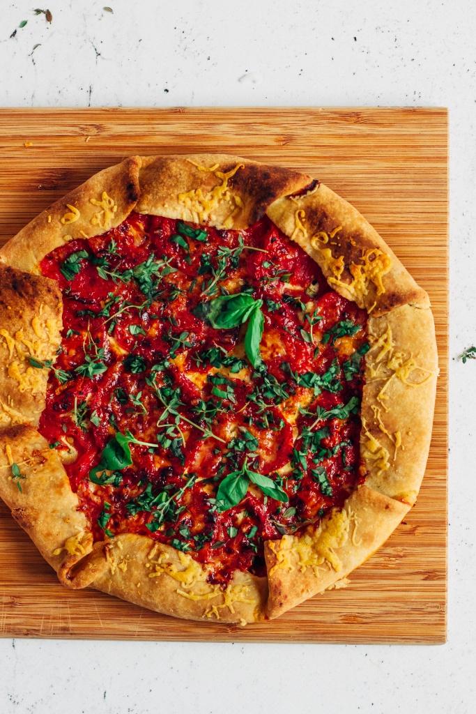Tomatentaart met tuinkruiden / www.eenlepeltjelekkers.be