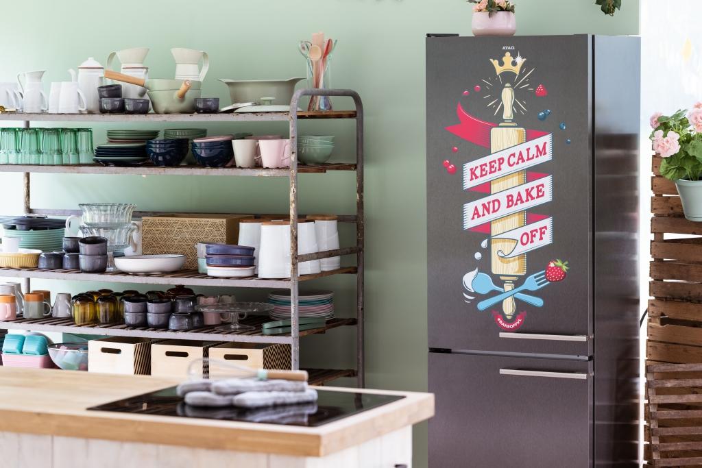 ATAG - Bake Off - koelkast met opschrift / www.eenlepeltjelekkers;be