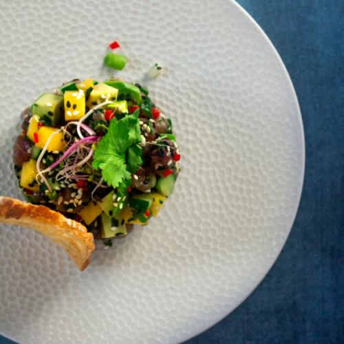 Thaise tonijntartaar met mango / www.eenlepeltjelekkers.be