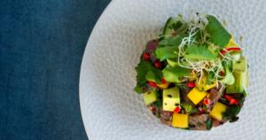 Thaise tonijntartaar met mango_FB / www.eenlepeltjelekkers.be