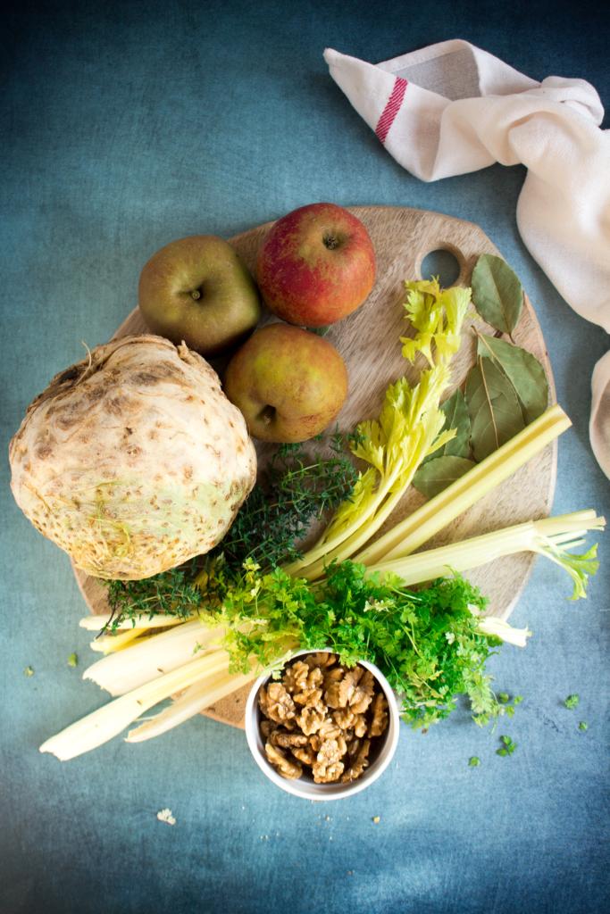 Ingrediënten knolseldersoep / www.eenlepeltjelekkers.be