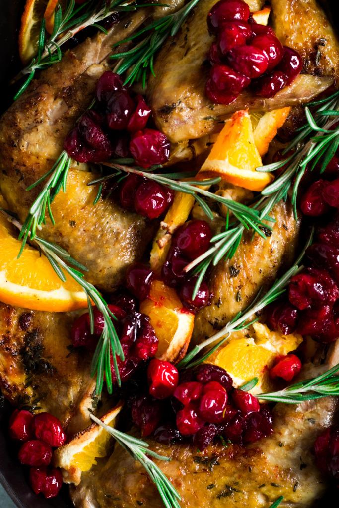 Parelhoen met sinaasappel close-up /www.eenlepeltjelekkers.be