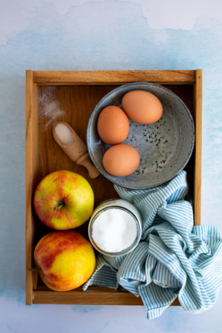 Ingrediënten appelcake / www.eenlepeltjelekkers.be
