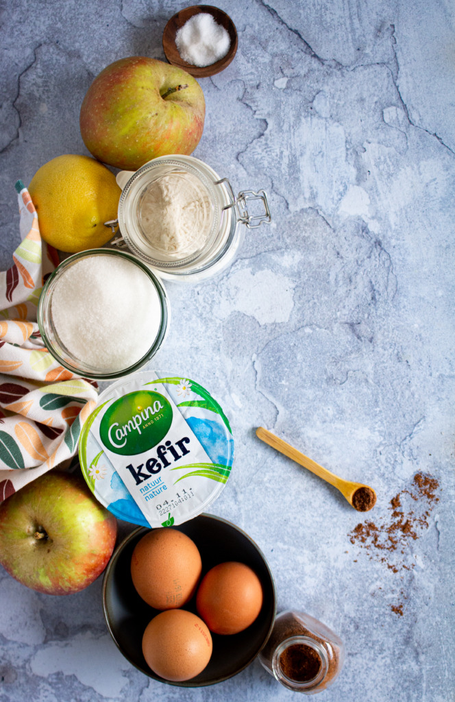 Ingrediënten appelcupcakes met speculooscrème / www.eenlepeltjelekkers.be