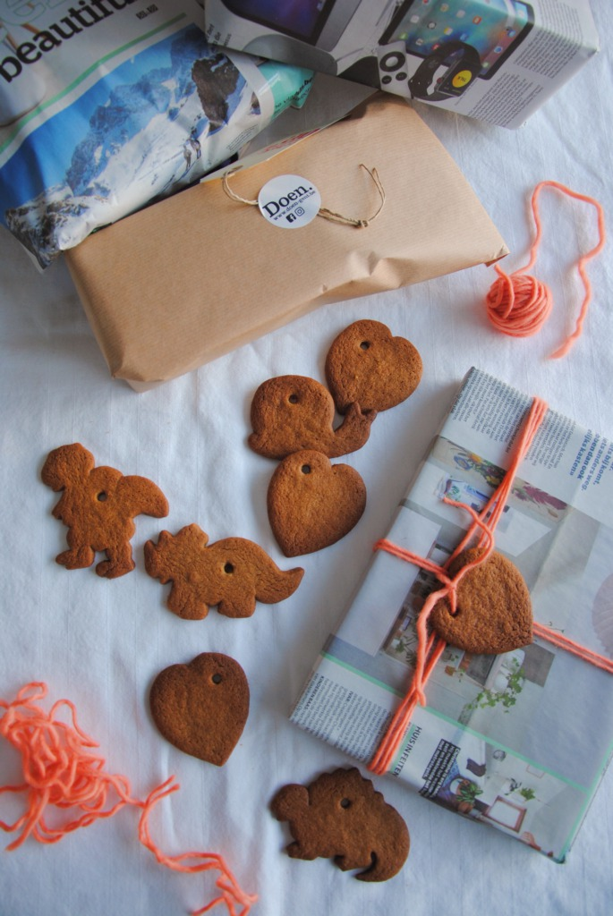 Cadeautjes versierd met gingerbread_Pinches of Happiness / www.eenlepeltjelekkers.be